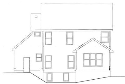 Rear Elevation Plan: 10-749