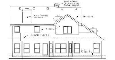 Rear Elevation Plan: 10-751