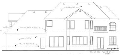 Rear Elevation Plan: 10-760