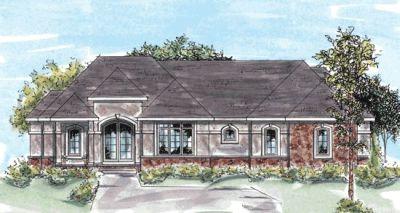 European Style Home Design Plan: 10-761