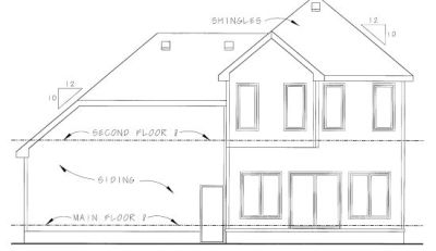 Rear Elevation Plan: 10-764