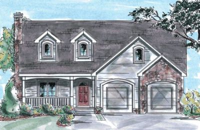 Country Style Home Design Plan: 10-766