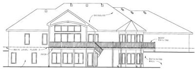 Rear Elevation Plan: 10-768