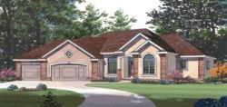 Traditional Style Home Design Plan: 10-768