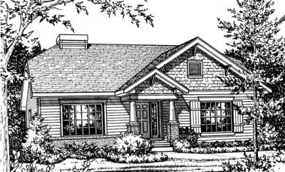 Traditional Style Home Design Plan: 10-769