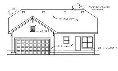 Rear Elevation Plan: 10-769