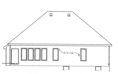 Rear Elevation Plan: 10-770