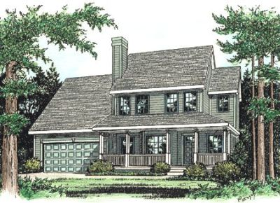 Country Style Home Design Plan: 10-771
