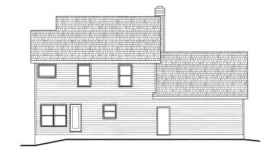 Rear Elevation Plan: 10-771