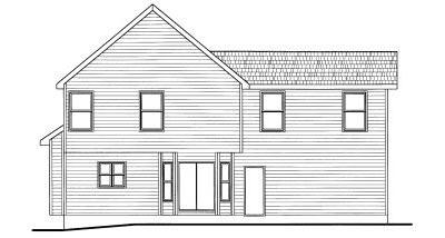 Rear Elevation Plan: 10-772
