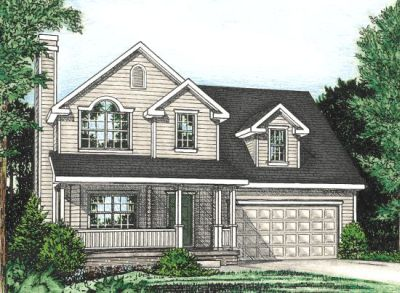 Country Style Home Design Plan: 10-774