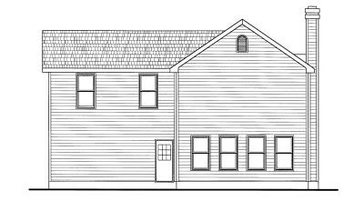 Rear Elevation Plan: 10-774