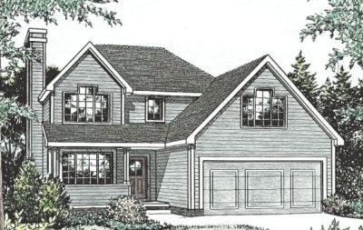 Traditional Style Home Design Plan: 10-775