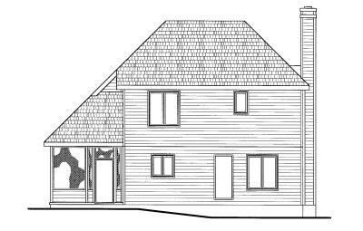 Rear Elevation Plan: 10-775