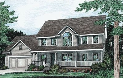 Country Style Home Design Plan: 10-776