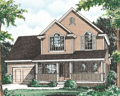 Country Style Home Design Plan: 10-777