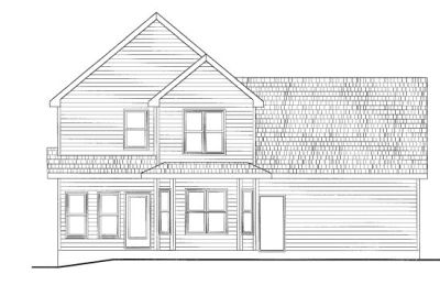 Rear Elevation Plan: 10-777