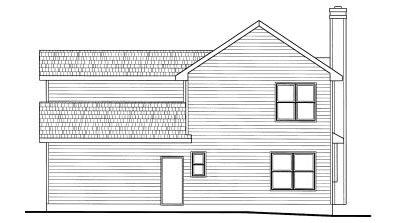 Rear Elevation Plan: 10-778