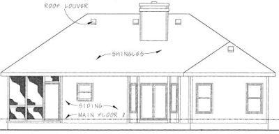 Rear Elevation Plan: 10-787
