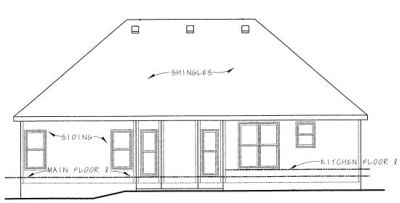 Rear Elevation Plan: 10-788
