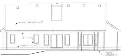 Rear Elevation Plan: 10-789