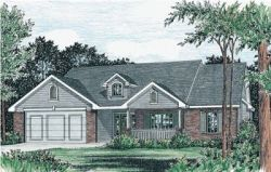 Ranch Style Home Design Plan: 10-789