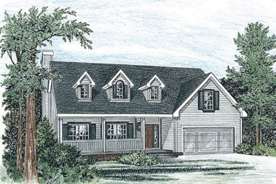 Country Style Home Design Plan: 10-790