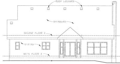 Rear Elevation Plan: 10-790