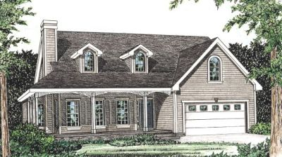 Country Style Home Design Plan: 10-791