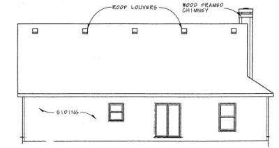 Rear Elevation Plan: 10-791