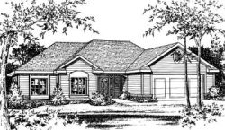 Traditional Style Home Design Plan: 10-795