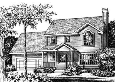 Traditional Style Home Design Plan: 10-798