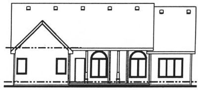 Rear Elevation Plan: 10-799