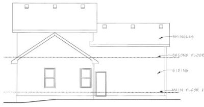 Rear Elevation Plan: 10-801