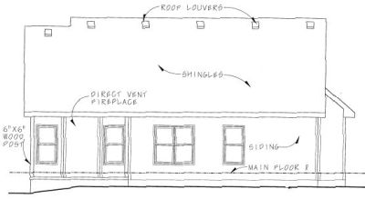 Rear Elevation Plan: 10-805