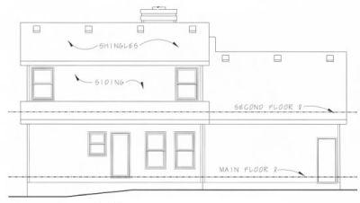 Rear Elevation Plan: 10-806