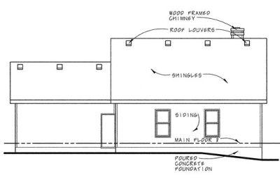 Rear Elevation Plan: 10-807