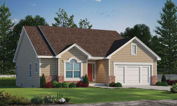 Traditional Style Home Design Plan: 10-809