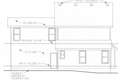 Rear Elevation Plan: 10-810