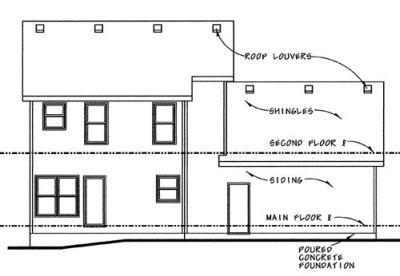 Rear Elevation Plan: 10-814