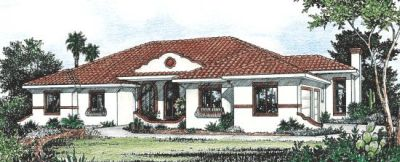 Spanish Style Floor Plans Plan: 10-815