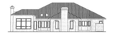 Rear Elevation Plan: 10-815