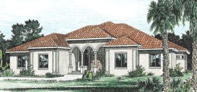 Spanish Style House Plans 10-816
