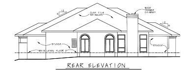 Rear Elevation Plan: 10-816