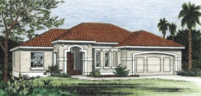 Southwest Style Home Design Plan: 10-817