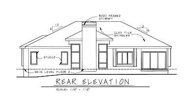 Rear Elevation Plan: 10-818