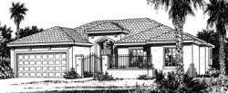 Southwest Style Home Design Plan: 10-818