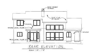 Rear Elevation Plan: 10-819