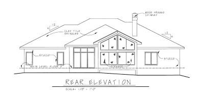 Rear Elevation Plan: 10-820