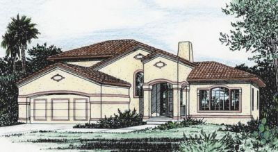 Traditional Style Home Design Plan: 10-822